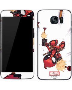 Deadpool Baby Fire Galaxy S7 Skin