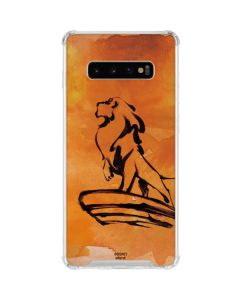 Mufasa Water Color Galaxy S10 Plus Clear Case