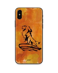 Mufasa Water Color iPhone X Skin