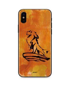 Mufasa Water Color iPhone XS Max Skin