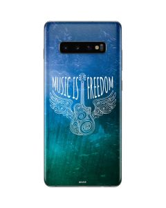 Music Is Freedom Galaxy S10 Plus Skin