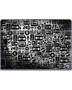 Music Pattern Galaxy Book Keyboard Folio 12in Skin