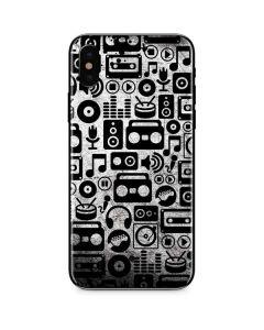 Music Pattern iPhone X Skin