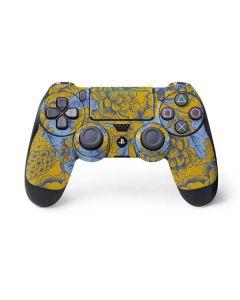 Mustard Yellow Floral Print PS4 Pro/Slim Controller Skin