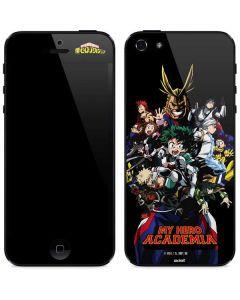 My Hero Academia Main Poster iPhone 5/5s/SE Skin