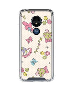 My Melody Pattern Moto G7 Power Clear Case