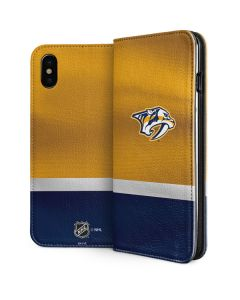 Nashville Predators Alternate Jersey iPhone X Folio Case