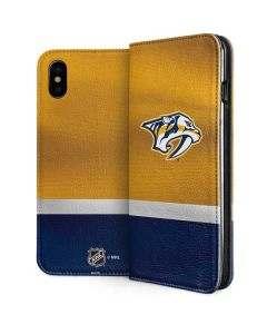 Nashville Predators Alternate Jersey iPhone XS Max Folio Case
