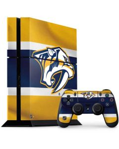 Nashville Predators Alternate Jersey PS4 Console and Controller Bundle Skin