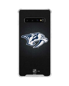 Nashville Predators Black Background Galaxy S10 Clear Case