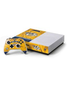 Nashville Predators Jersey Xbox One S Console and Controller Bundle Skin