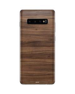 Natural Walnut Wood Galaxy S10 Plus Skin