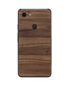 Natural Walnut Wood Google Pixel 3 XL Skin
