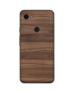 Natural Walnut Wood Google Pixel 3a Skin