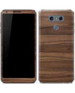 Natural Walnut Wood LG G6 Skin