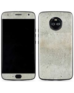 Natural White Concrete Moto X4 Skin