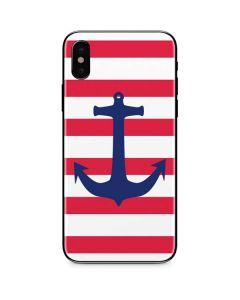 Nautical Stripes iPhone X Skin