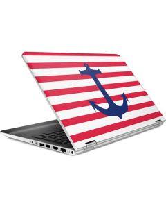 Nautical Stripes HP Pavilion Skin