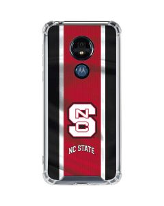 NC State Flag Moto G7 Power Clear Case