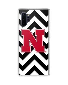 Nebraska Black Chevron Print Galaxy Note 10 Plus Clear Case