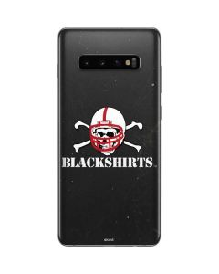 Nebraska Blackshirts Skull Galaxy S10 Plus Skin