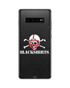Nebraska Blackshirts Skull Galaxy S10 Plus Skin