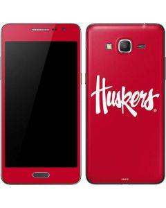 Nebraska Huskers Red Galaxy Grand Prime Skin
