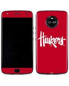 Nebraska Huskers Red Moto X4 Skin