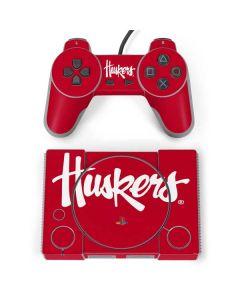 Nebraska Huskers Red PlayStation Classic Bundle Skin