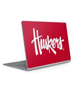 Nebraska Huskers Red Surface Book 2 13.5in Skin