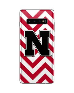 Nebraska Red Chevron Print Galaxy S10 Plus Skin