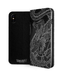 Negative Shenron iPhone XS Max Folio Case