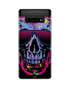 Neon Skull with Glasses Galaxy S10 Plus Skin