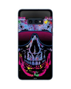 Neon Skull with Glasses Galaxy S10e Skin