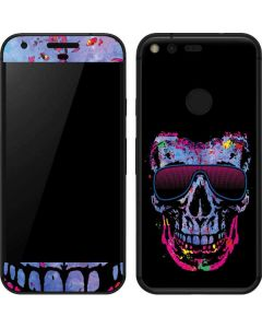 Neon Skull with Glasses Google Pixel Skin