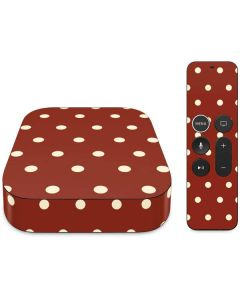 Neutral Polka Dots Apple TV Skin