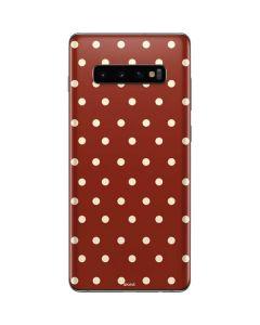 Neutral Polka Dots Galaxy S10 Plus Skin