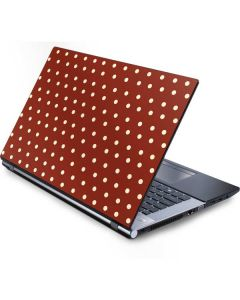 Neutral Polka Dots Generic Laptop Skin