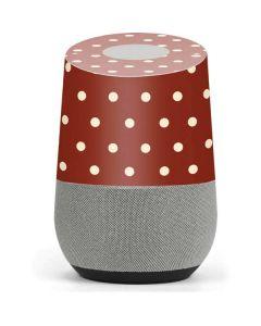 Neutral Polka Dots Google Home Skin