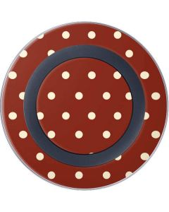 Neutral Polka Dots Wireless Charger Skin