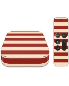 Neutral Stripes Apple TV Skin