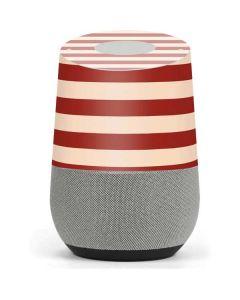 Neutral Stripes Google Home Skin