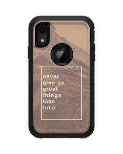 Never Give Up Great Things Take Time Otterbox Defender iPhone Skin