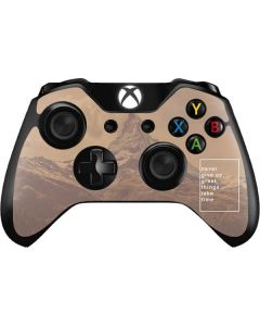 Never Give Up Great Things Take Time Xbox One Controller Skin