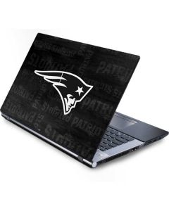 New England Patriots Black & White Generic Laptop Skin