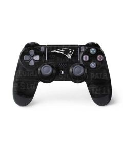 New England Patriots Black & White PS4 Controller Skin