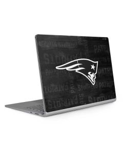 New England Patriots Black & White Surface Book 2 13.5in Skin