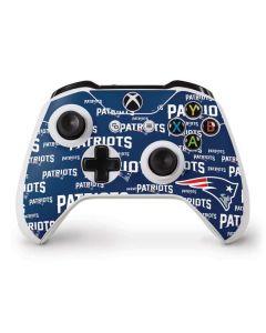 New England Patriots Blast Xbox One S Controller Skin
