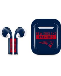 New England Patriots Blue Performance Series Apple AirPods Skin