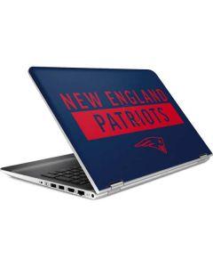 New England Patriots Blue Performance Series HP Pavilion Skin